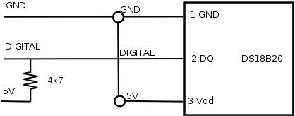 DS18B20 - parazitní napájení