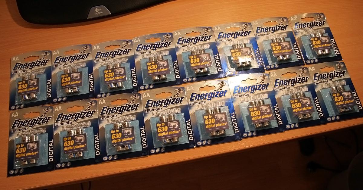 32ks Energizer Ultimate Lithium L91