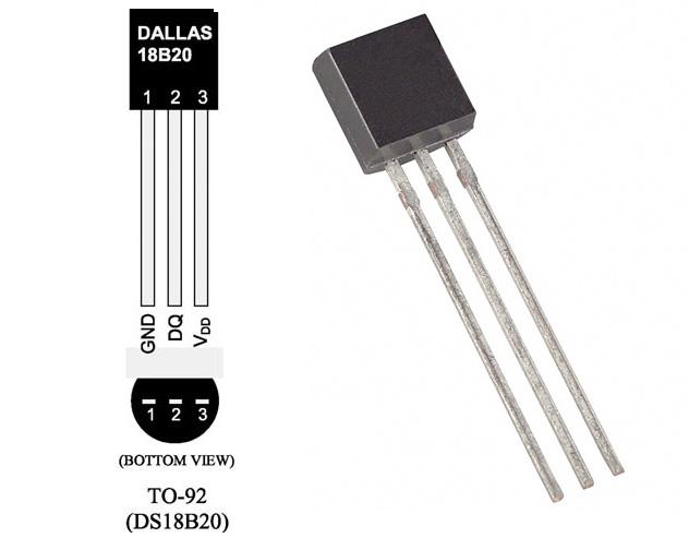 Číslicový teploměr Dallas DS18B20